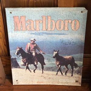 Vintage Marlboro Man Cowboy Tin Sign